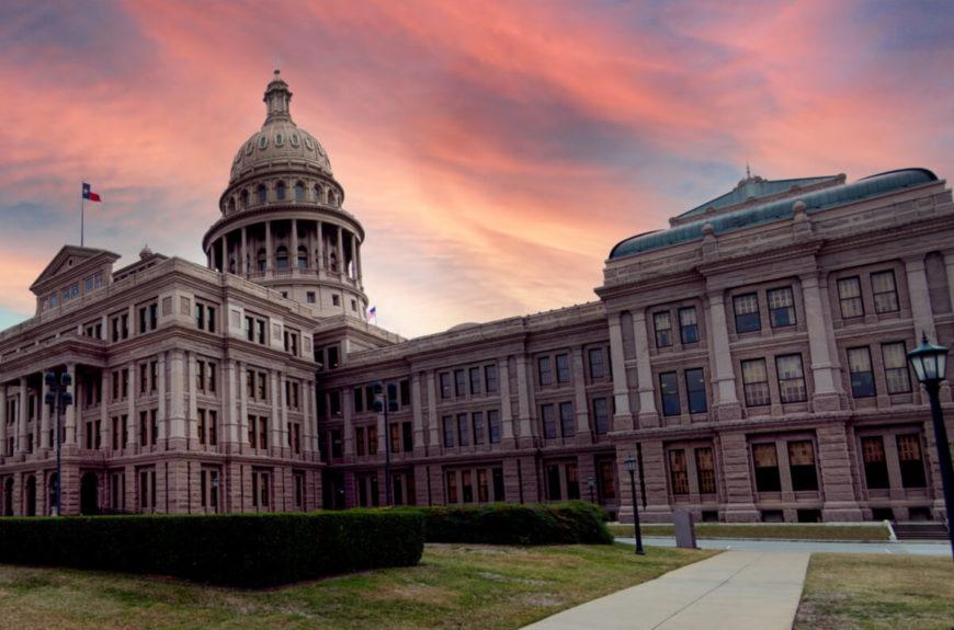 the Texas Senate building